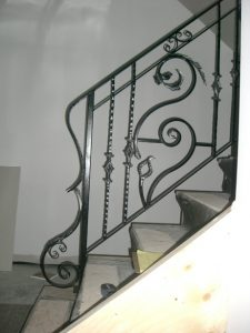 an ornate stainless steel railing in toronto